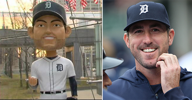 Notice something odd about this life-size Justin Verlander bobb…