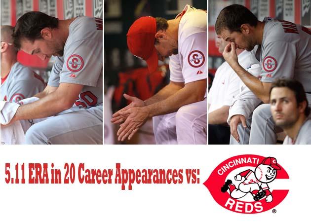 Cincinnati Reds have Adam Wainwright's number (and it's not 50)