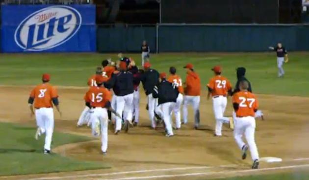The walk-off that wasn't: Minor league team's boneheaded blunde…