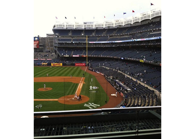 Look at all these empty seats at the New York Yankees' sad open…