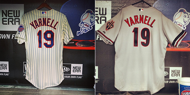 Diamondbacks and Mets hang 'Yarnell 19′ jerseys in their dugout…
