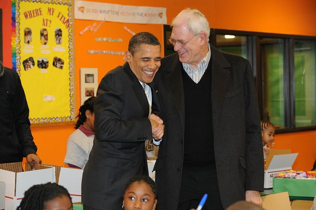 President Barack Obama played Election Day basketball with Scot…