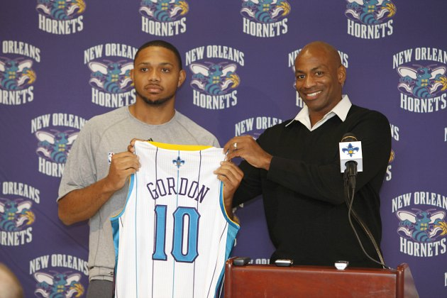 Eric Gordon is out indefinitely with knee trouble, and the Horn…