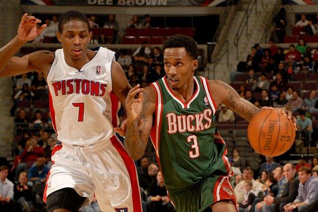 The Bucks and Pistons swap Brandon Jennings and Brandon Knight,…