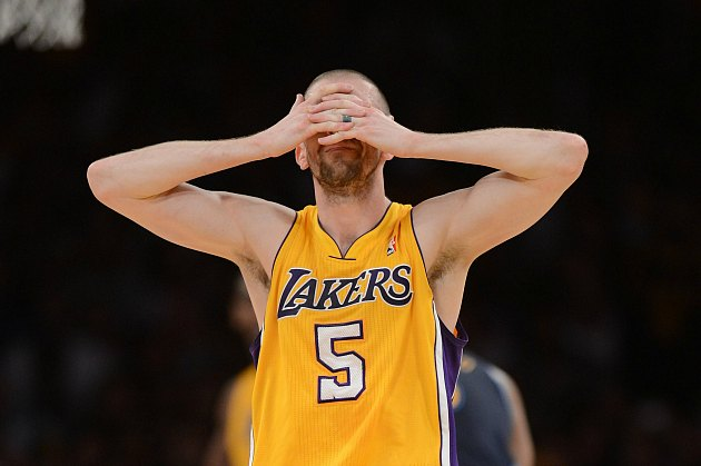Steve Blake punctured his foot on a parking lot spike
