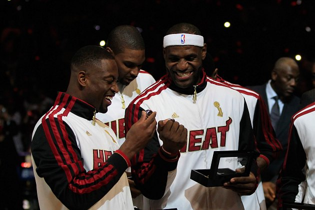 LeBron James would prefer the Miami Heat not receive their cham…