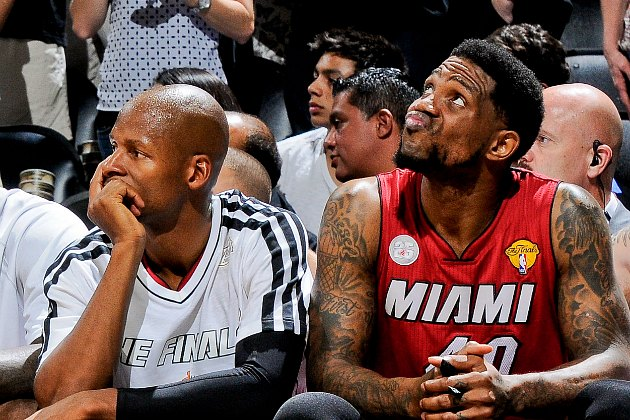 Udonis Haslem started pitching Ray Allen to return to the Miami…