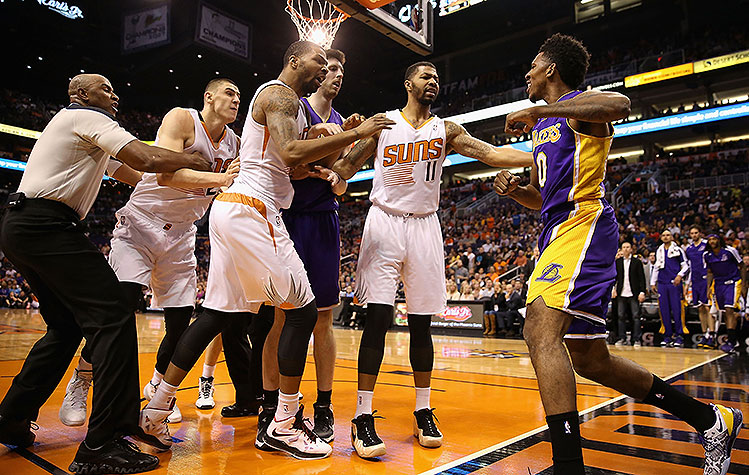 Nick Young (punch), Alex Len (flagrant foul-2) ejected after al…