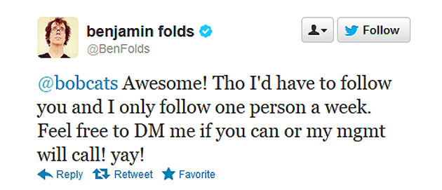 The Ben Folds Five goes to their nearly 600,000 Twitter followe…