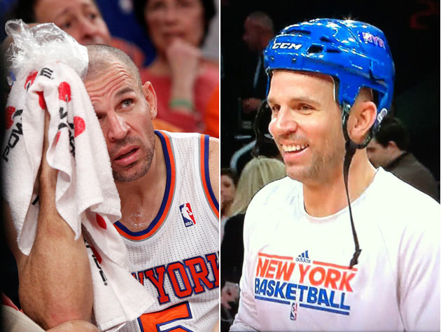 Jason Kidd gets clocked in head, wears hockey helmet out for 2n…