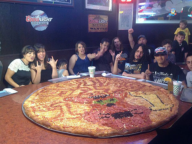 Here, have a giant San Antonio Spurs pizza for breakfast (Photo…