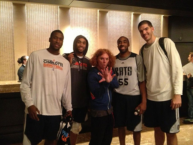 The Charlotte Bobcats are caught hanging out with Carrot Top (P…