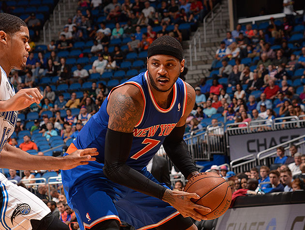 Carmelo Anthony (sprained left ankle) out for Knicks' Christmas…