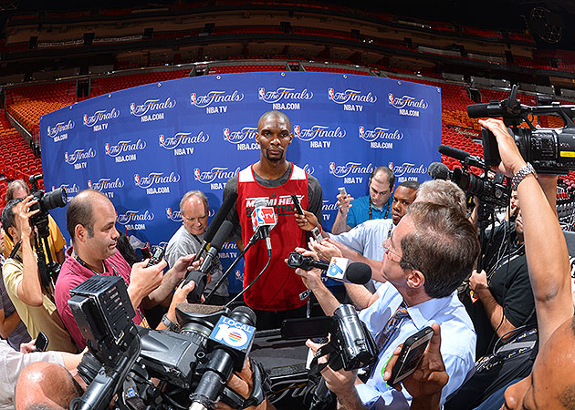Chris Bosh to Heat fans who left Game 6 early: 'Don't come back…
