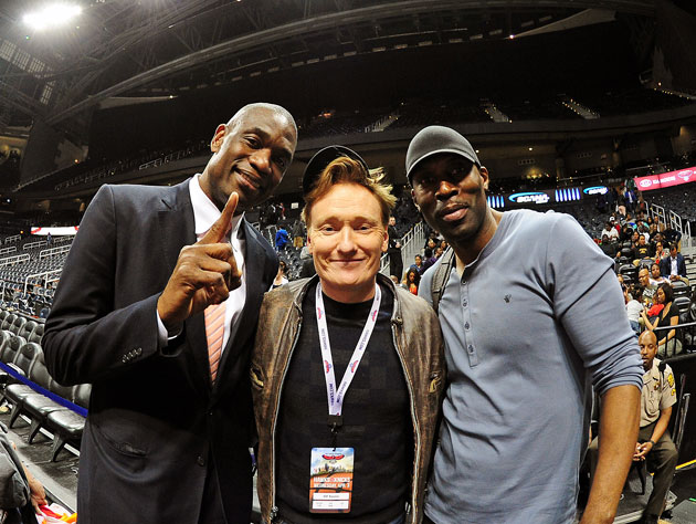 Dikembe Mutombo, Conan O'Brien, and Kevin Willis hung out at a …