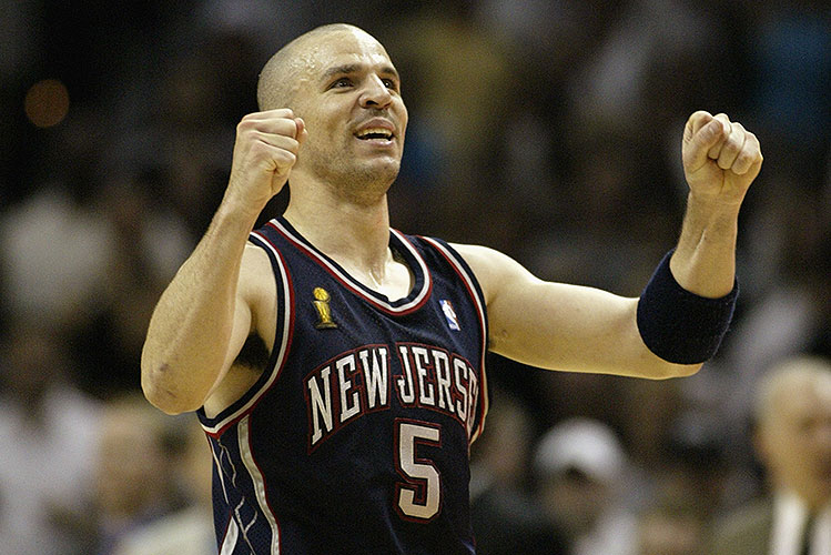 The 10-man rotation, starring Jason Kidd, whose Nets jersey is …