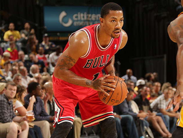 Derrick Rose's comeback begins with an exhibition victory over …