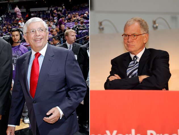 The top 20 items on David Stern's two Top Ten Lists read on 'Th…