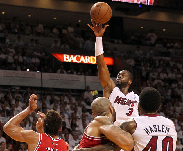 Chicago-born Dwyane Wade saves the damage for late, Miami knock…