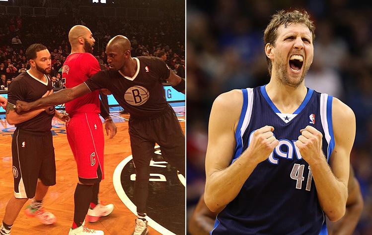 Dirk Nowitzki isn't a fan of the NBA's Christmas sleeved jersey…