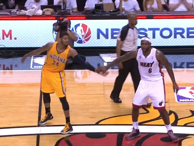 Paul George blows by LeBron James to posterize Birdman, LeBron …