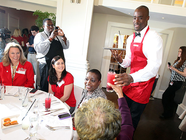Emeka Okafor is a natural waiter who knows everything