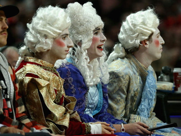 Three Foppish Dandies attended the Chicago Bulls/New York Knick…