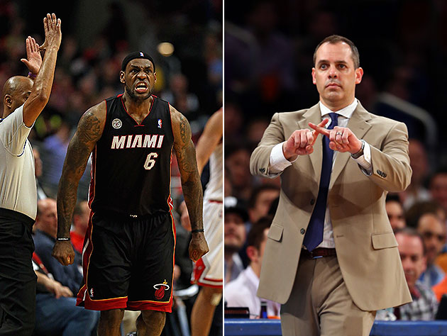 LeBron James, Pacers coach Frank Vogel, reportorial whoopsies a…
