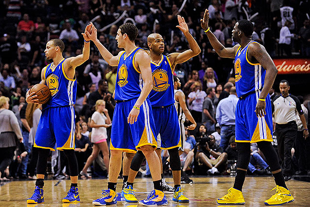 The 10-man rotation, starring the Golden State flippin' Warrior…