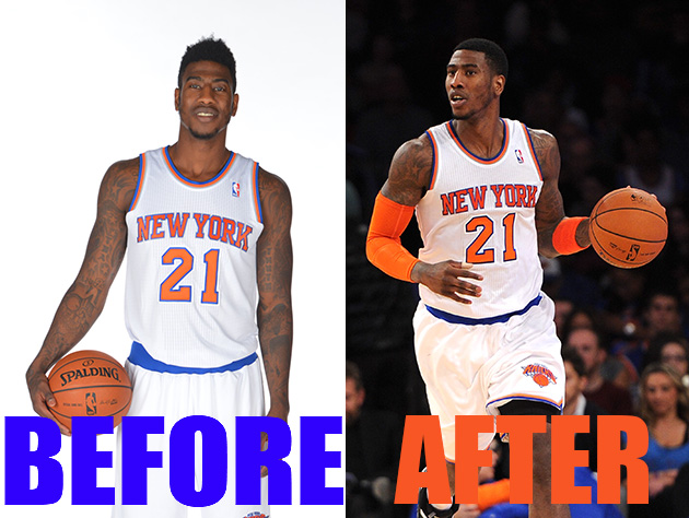 Knicks' Iman Shumpert shaved off his high-top/flat-top to punis…