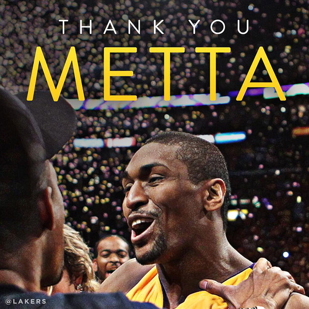 Los Angeles Lakers waive Metta World Peace using amnesty provis…