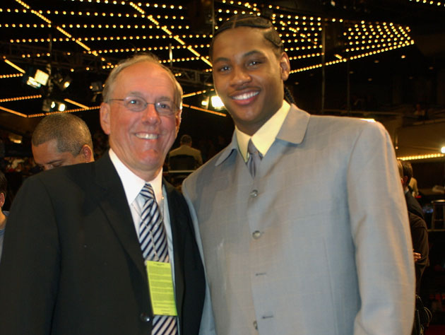 Jim Boeheim doesn't think Carmelo Anthony can win a title with …