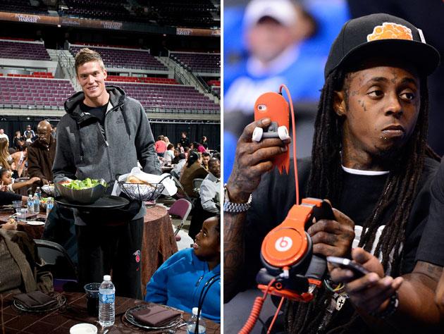 Lil Wayne helps Detroit Pistons forward Jonas Jerebko outfit ch…