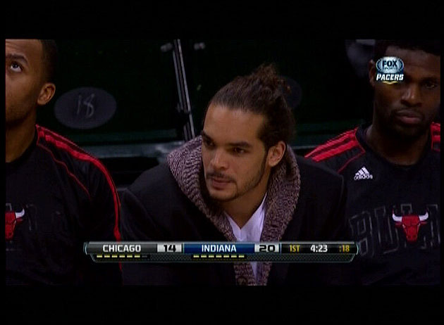 The NBA's dress code police ask Joakim Noah to leave the bench …