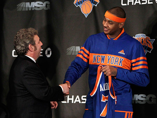 Knicks owner James Dolan had employees record Carmelo Anthony's…