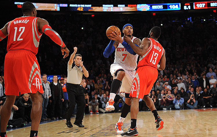 Should Carmelo Anthony have had a chance for a 4-point play lat…