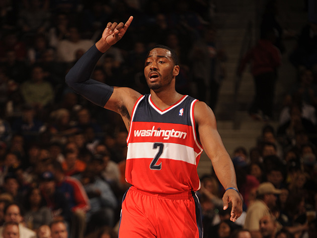 Wizards' John Wall receives first flop warning of the 2013-14 N…