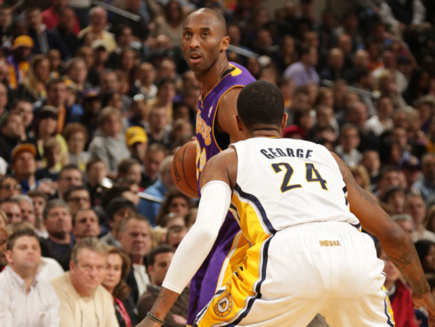 Kobe Bryant returns from an ankle sprain, and Pacer George Hill…