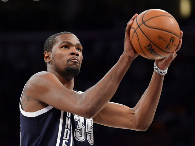 Kevin Durant sometimes doesn't want to chuck heaves at the buzz…