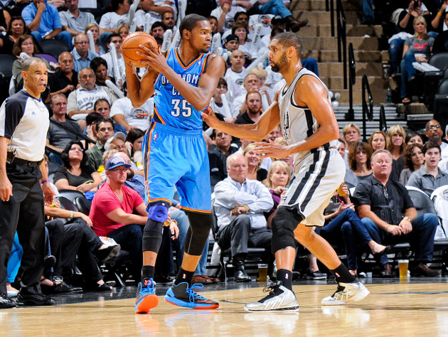 The 10-man rotation, starring the Spurs and Thunder, battling f…