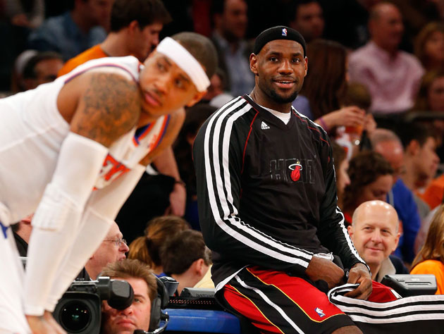 LeBron James is the NBA's MVP, but not unanimously as Carmelo A…