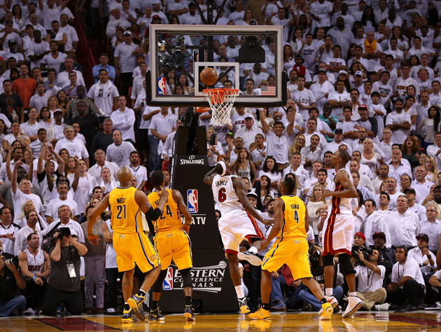 LeBron James saves Miami in Game 1, nailing a game-winner in a …