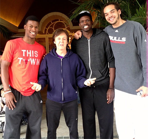 When Chicago Bulls Luol Deng, Joakim Noah, and Jimmy Butler met…