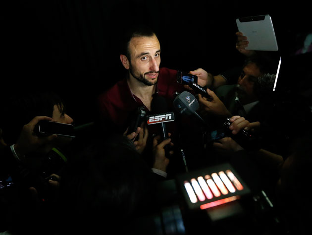 Manu Ginobili discusses the frustration of 'having to play with…