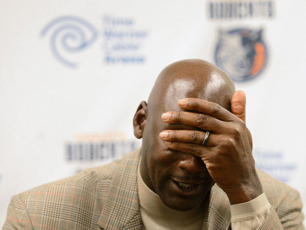 Michael Jordan says his Bobcats would never and also never have…