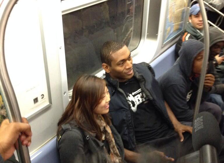 Metta World Peace took the subway from Queens to his first game…