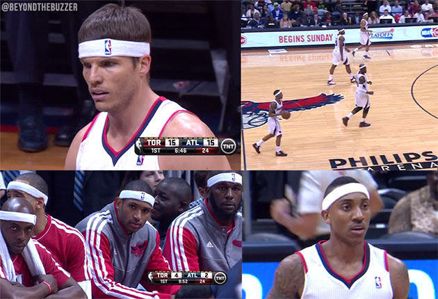 All the Atlanta Hawks wore headbands on Tuesday, and people wer…