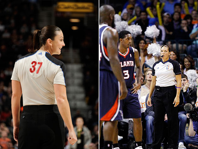 The NBA has added two female referees to its leaguewide crew