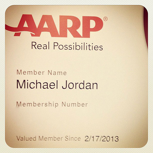 AARP gives Michael Jordan the perfect 50th birthday gift (PHOTO…