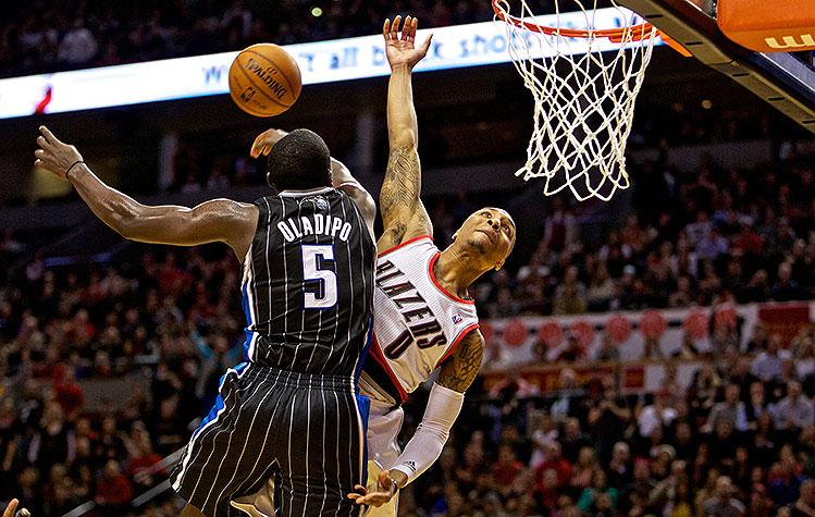 Victor Oladipo's huge block erases Damian Lillard's dunk attemp…